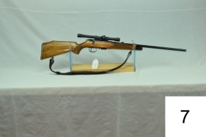 Savage-Anschutz    Mod 141-M    Cal .22 Mag    W/Weaver 4x Scope    SN: 622455    Condition: 80%