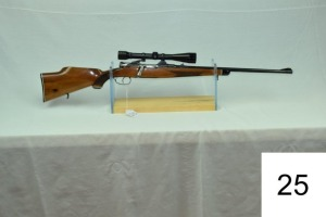 Steyr-Daimler-Puch    Cal .270 Win??    W/ Redfield 6x Scope    SN: 27258    Condition: 80%