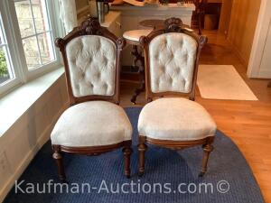 Victorian chairs. Pair.