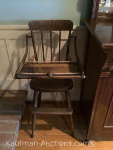 Old Victorian high chair