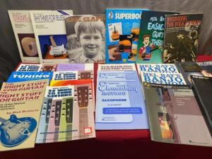 Large selection of Music instructional books, some new