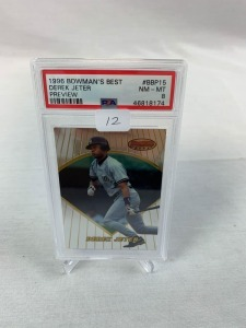 1996 Bowman's Best Derek Jeter PSA 8- Preview