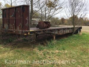 1978 Utility Flatbed double axle trailer/ approximately 44' long