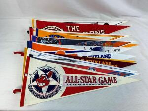 (14) Cleveland local pennants
