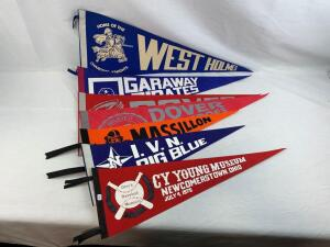 (7) local high school and other pennants
