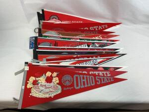 (17) Ohio State vintage and modern pennants