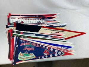 (65) Cleveland Indians pennants