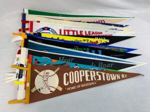 (15) multi-sport Hall of Fame pennants