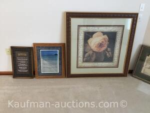 (3) framed pictures-decor