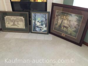 (3) framed pictures