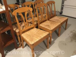 (6) wicker chairs