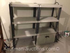 Plastic racks-shelving