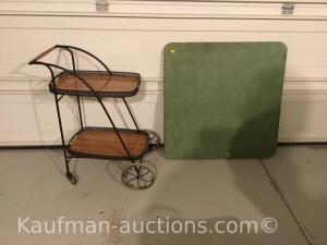Tray cart & card table