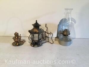 Oil lamps & older candle light