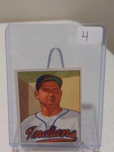1950 Bowman Early Wynn #148 HOF EX-MT Four Sharp Corners, Cenetering Shift Holds it Back From Higher Grade