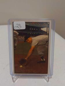 Another Clean 1953 Bowman Color Eddie Yost #116 Ultra Tough 2nd Series EX-MT++