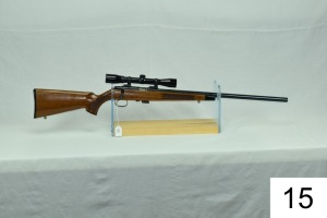 Remington    Mod 541-T    Heavy Barrel    Cal .22 LR    SN: A1104376    W/Bushnell Sportview Scope    Condition: 95%