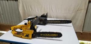 Craftsman Electric Chainsaw & McCullough Electric Chainsaw