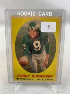 1958 Topps Sonny Jurgensen Rookie Football Card