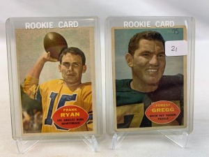 Two 1960 Topps Football Rookie Cards - Gregg & Ryan