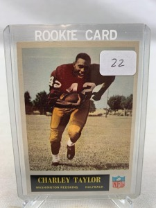 1965 Philadelphia Brand Football Card - Charley Taylor Rookie