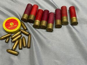 Assorted ammo, 16 gauge shot rounds and other ammo