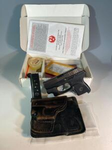 Ruger .380 LCP pistol with original box, and Crimson Laser pointer