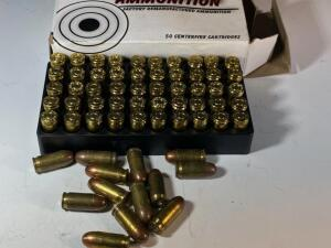Factory remanufactured box of .380 and approx 1 dozen assorted rounds