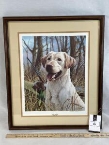 That's My Dog-yellow lab- James Killen. Signed by artist