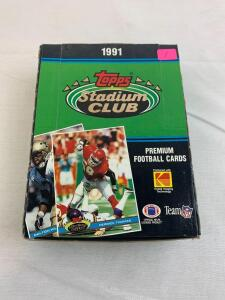 1991 Stadium Club football box, unopened