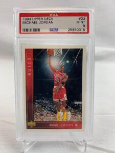 Michael Jordan, PSA mint 9, 1993 Upper Deck