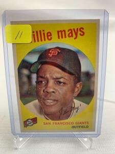 1959 Topps Willie Mays card # 50