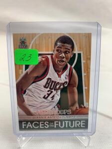 Giannia Antetokounmop Rookie card