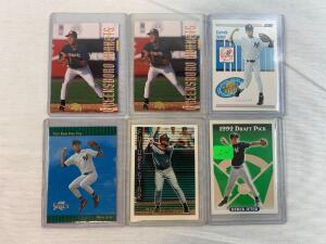 Derek Jeter Rookie card lot of 6, Topps Score and others
