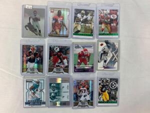 Lot of 12 Serial #'D football cards #'d out of 25 or less including a true 1of1 card