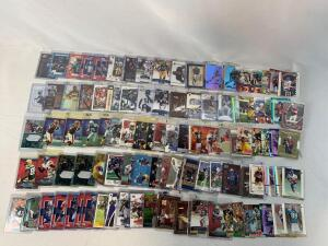 Lot of 100 Serial #'D Football cards