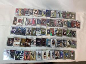 Lot of 72 Serial #'D Football cards, all numbered to 1250 or less