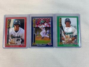 Set of 3 Mike Trout Minor League Cards