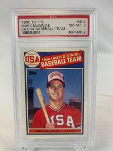 PSA 8 1985 Topps Mark McGwire Olympic Rookie Card