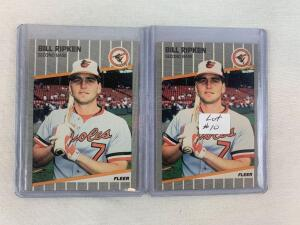 1989 Fleer Bill Ripken Obscenity Card And Black Box