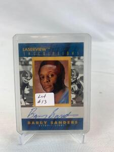 Scarce 1996 Laserview Inscriptions Barry Sanders Autograph