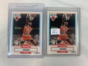 Lot of 2 1990/91 Fleer Michael Jordan Cards #26
