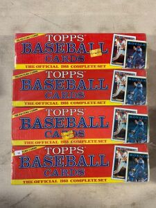 (4) 1989 Topps Baseball Factory Sets