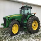2006 JD 8330 Tractor, 4WD, C/H/A, 978 hrs, 1 owner, Component ID#ROAH85F010251, Product ID# RW8330D001377, front tires 420/85R34,  rear tires 800/70R38, 4 hydraulic remotes,  IVT transmission, buddy seat, green star ready with Quick Tach