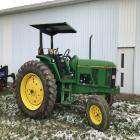 JD 6400 Tractor 2WD, Canopy, 4,622 hrs, 1 owner, front tires 10.00-16,  rear tires 18.4-38, Ser# LO6400P175808, 4 hydraulic remotes, 16 speed power quad transmission