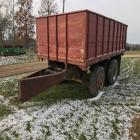 16' grain wagon (homemade), hyd dump, pintle hitch, no brakes